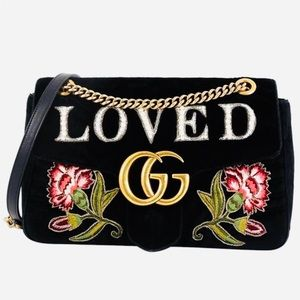 "🔥GUCCI GG MARMONT EMBROIDERED ""LOVED"""